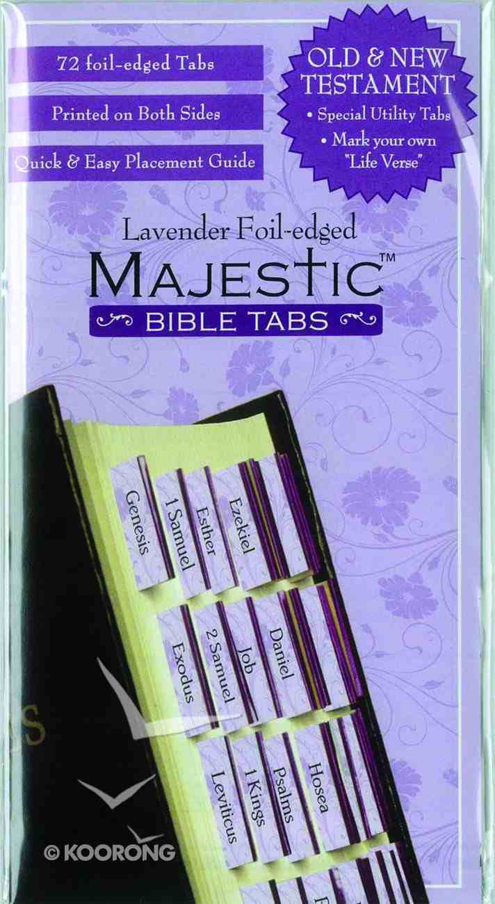 Majestic Bible Tabs Lavender Foil Edged Stickers