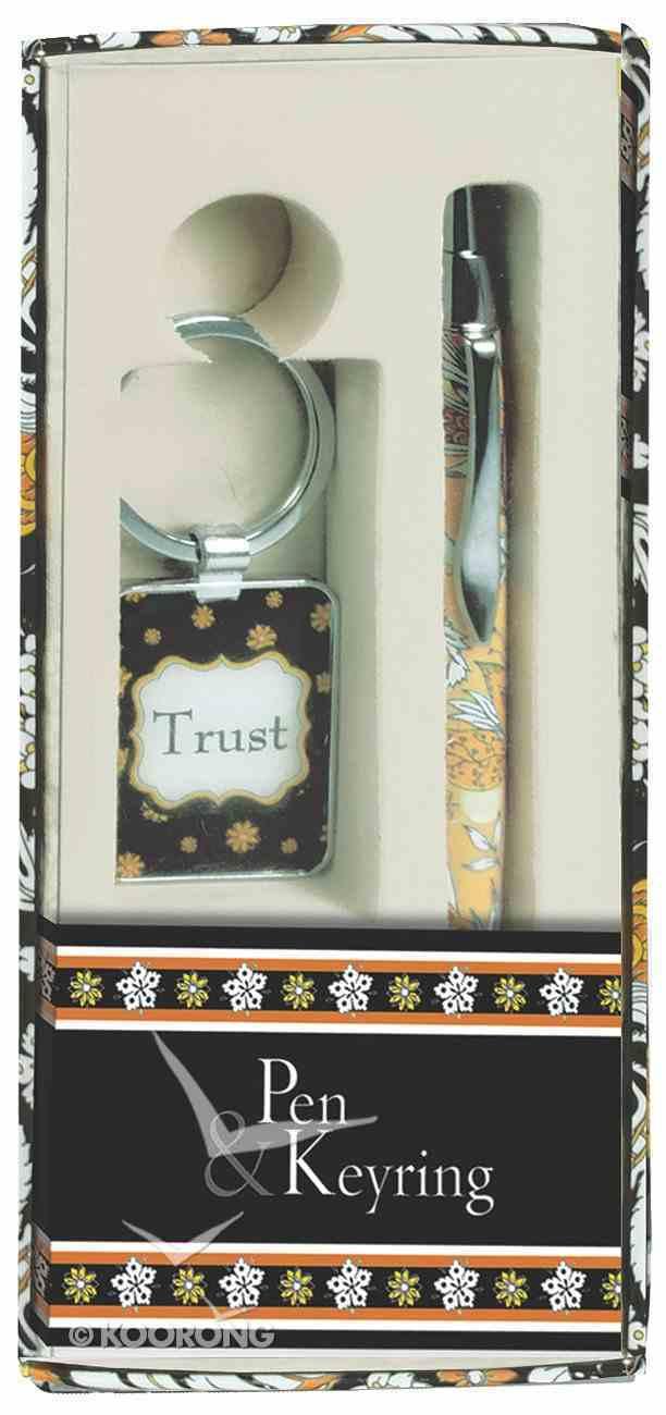 Pen and Keyring Set: Trust Stationery