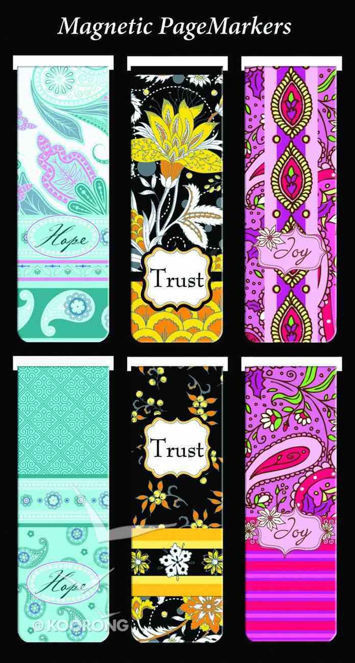 Bookmark Magnetic: Hope, Trust, Joy (Set Of 6) Stationery