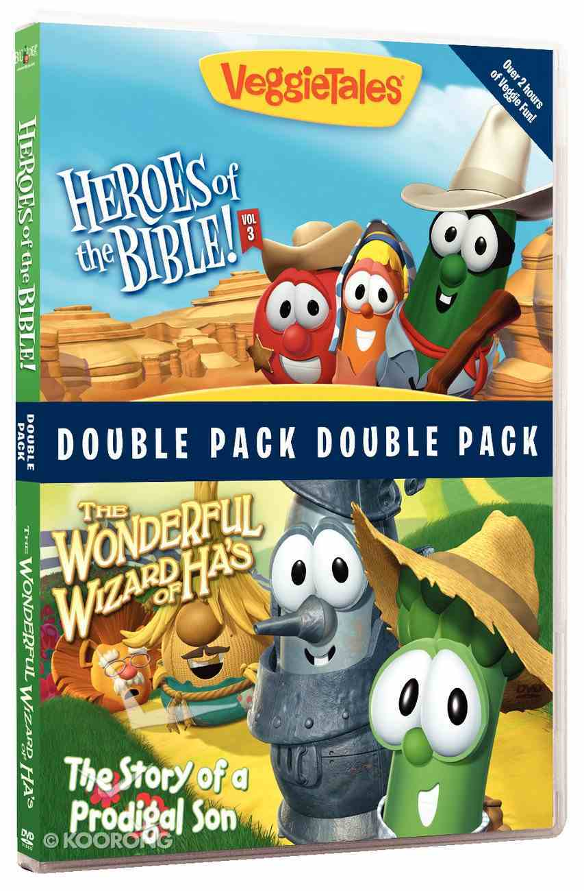 Wonderful Wizard of Has/Heroes of the Bible 3 (Veggie Tales Visual Double Feature Series) DVD