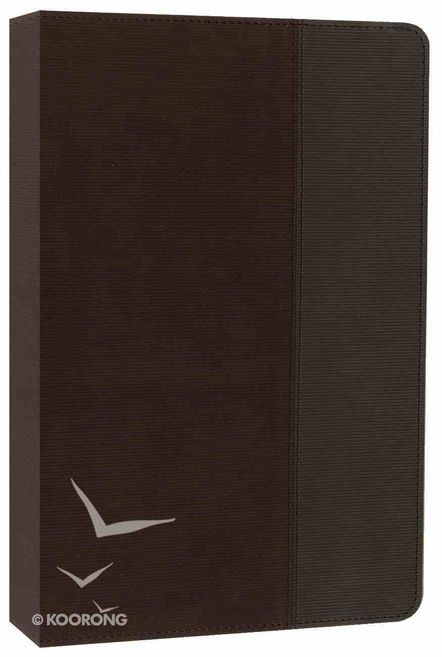 NIV Quest Standard Study Bible Brown/Grey (Black Letter Edition) Premium Imitation Leather