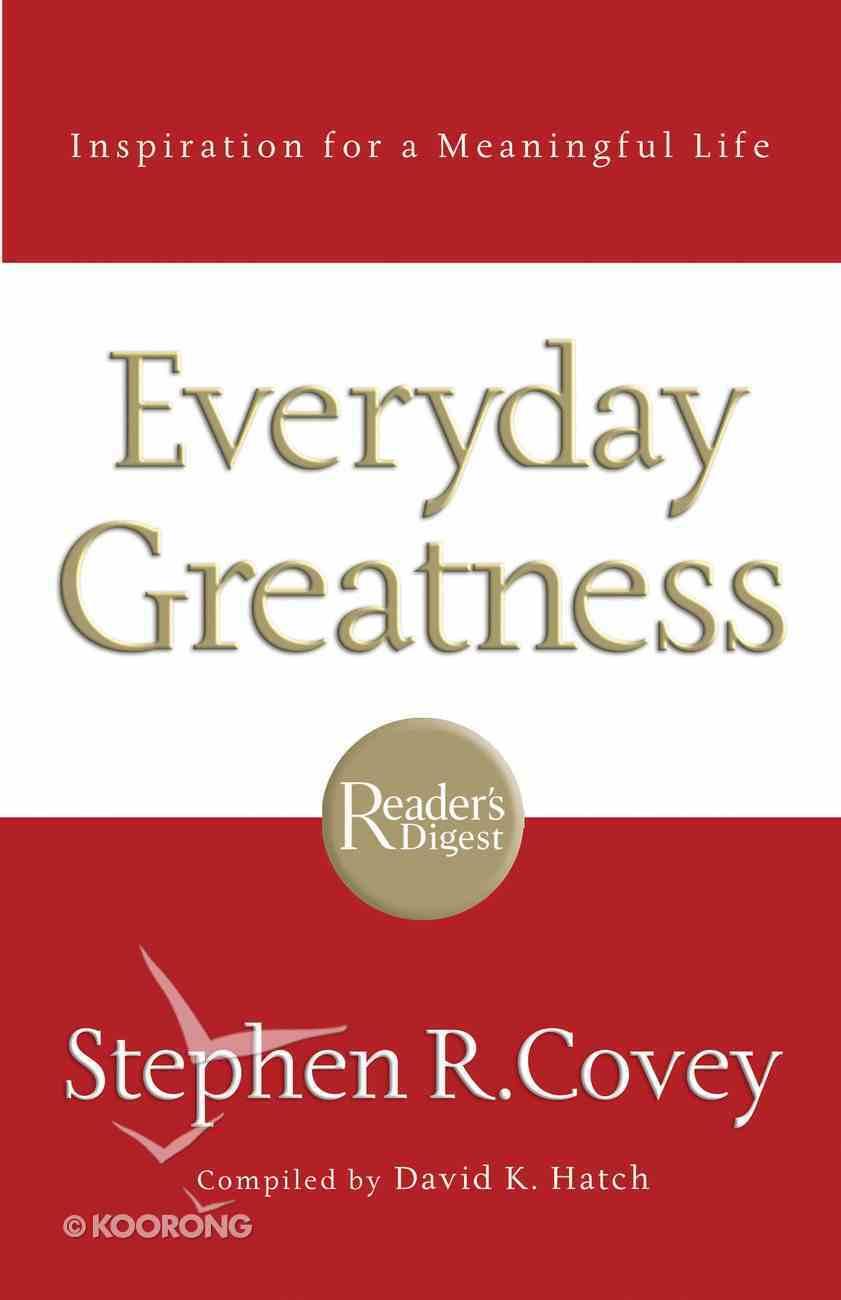 Everyday Greatness eBook