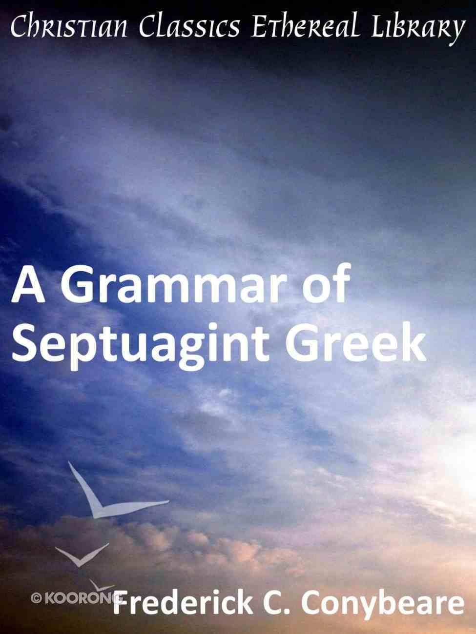 Grammar of Septuagint Greek eBook