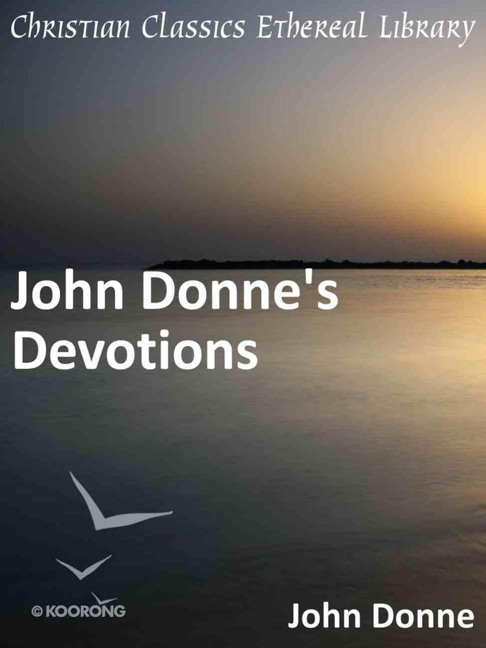 John Donne's Devotions eBook