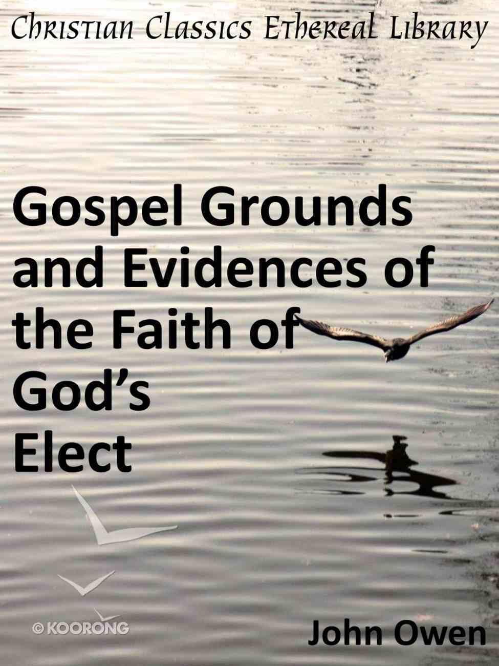 Gospel Grounds and Evidences of the Faith of God's Elect eBook