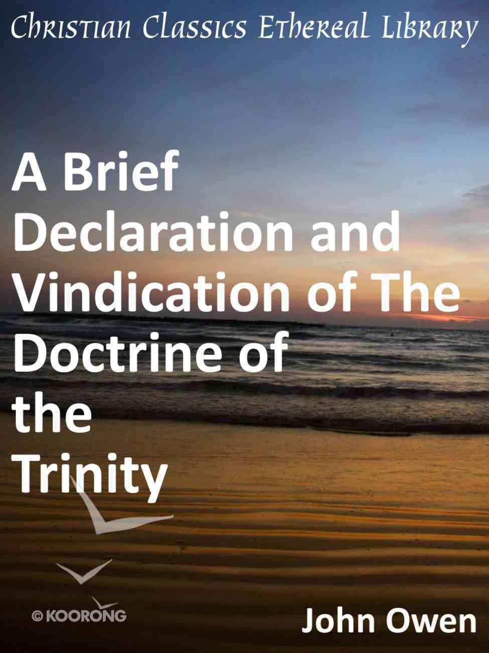 A Brief Declaration and Vindication of the Doctrine of the Trinity eBook