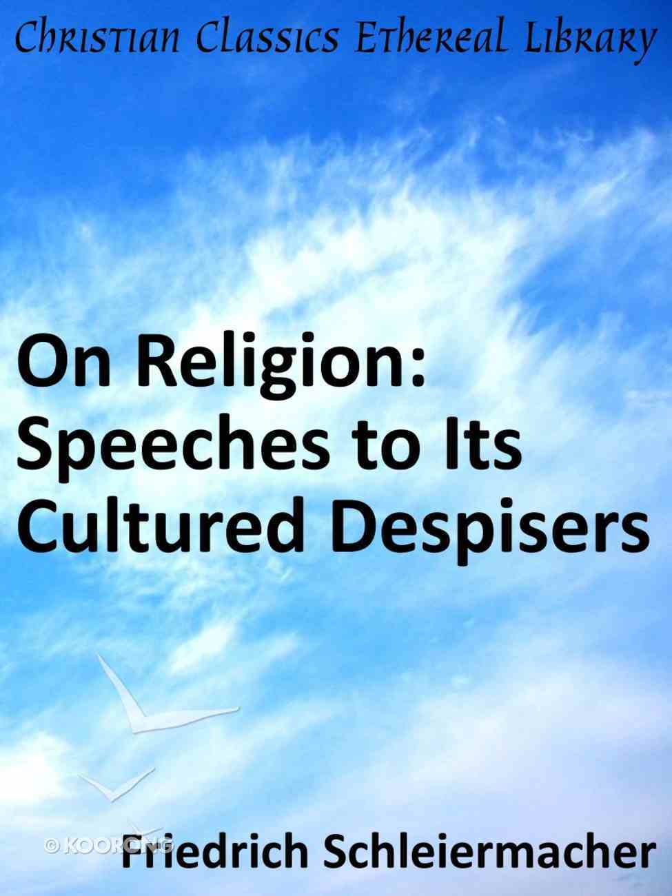 On Religion eBook