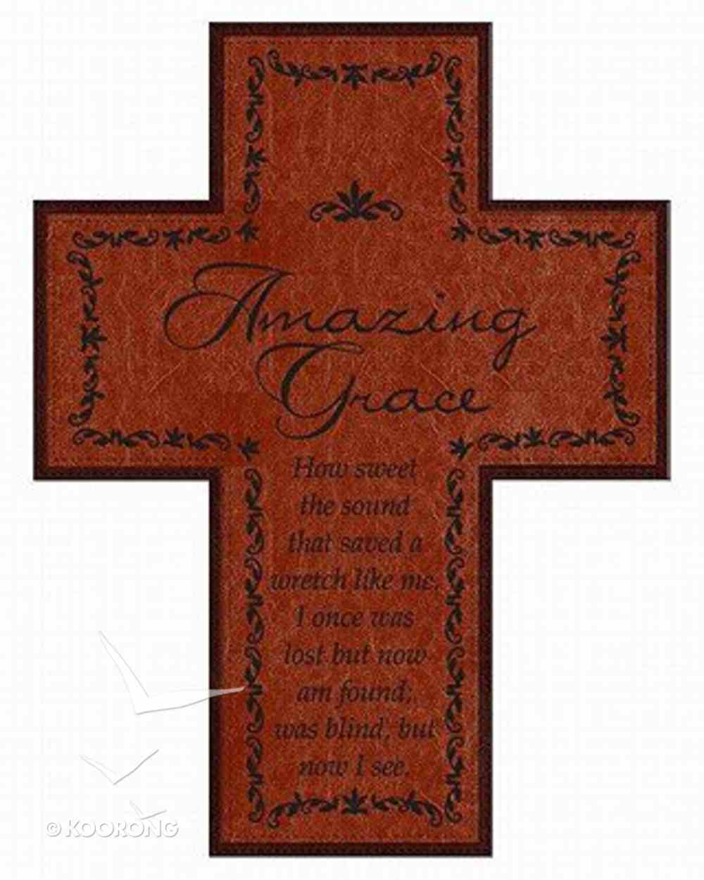 Soft Tone Wall Cross: Amazing Grace Homeware
