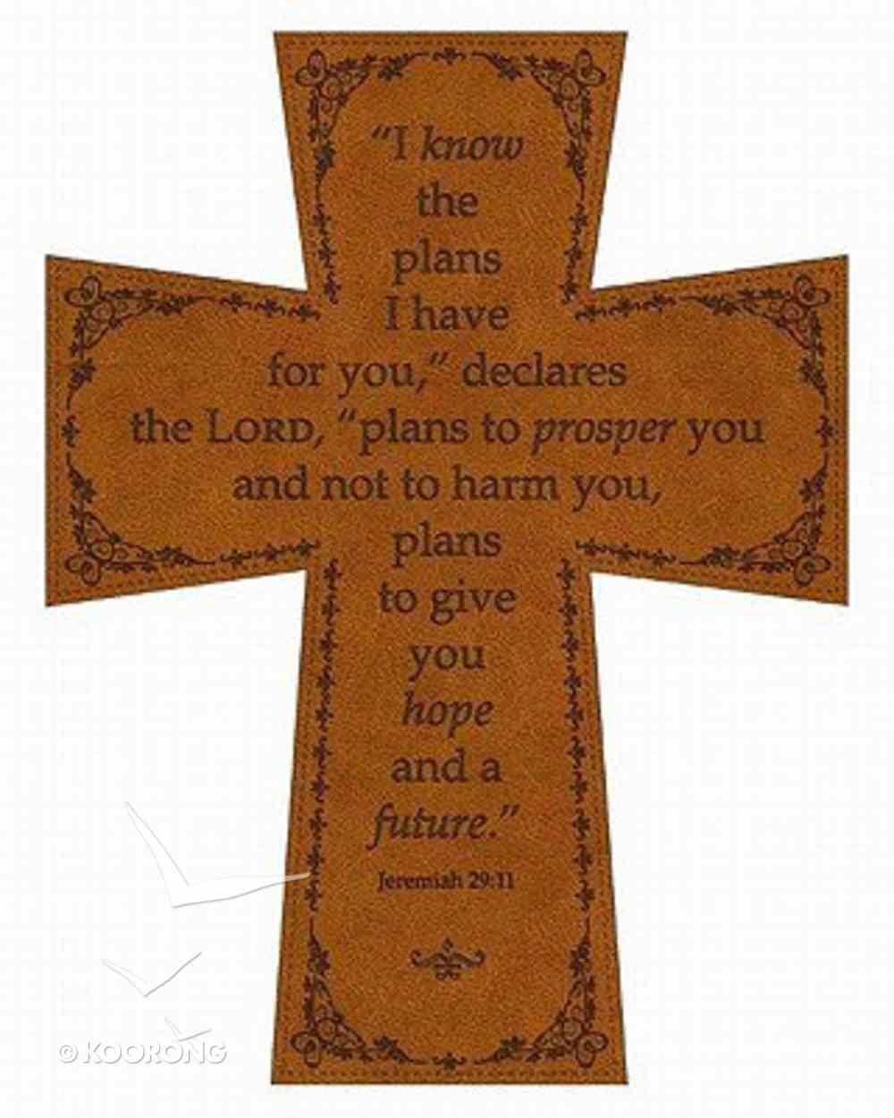 Soft Tone Wall Cross: Jeremiah 29:11 Homeware