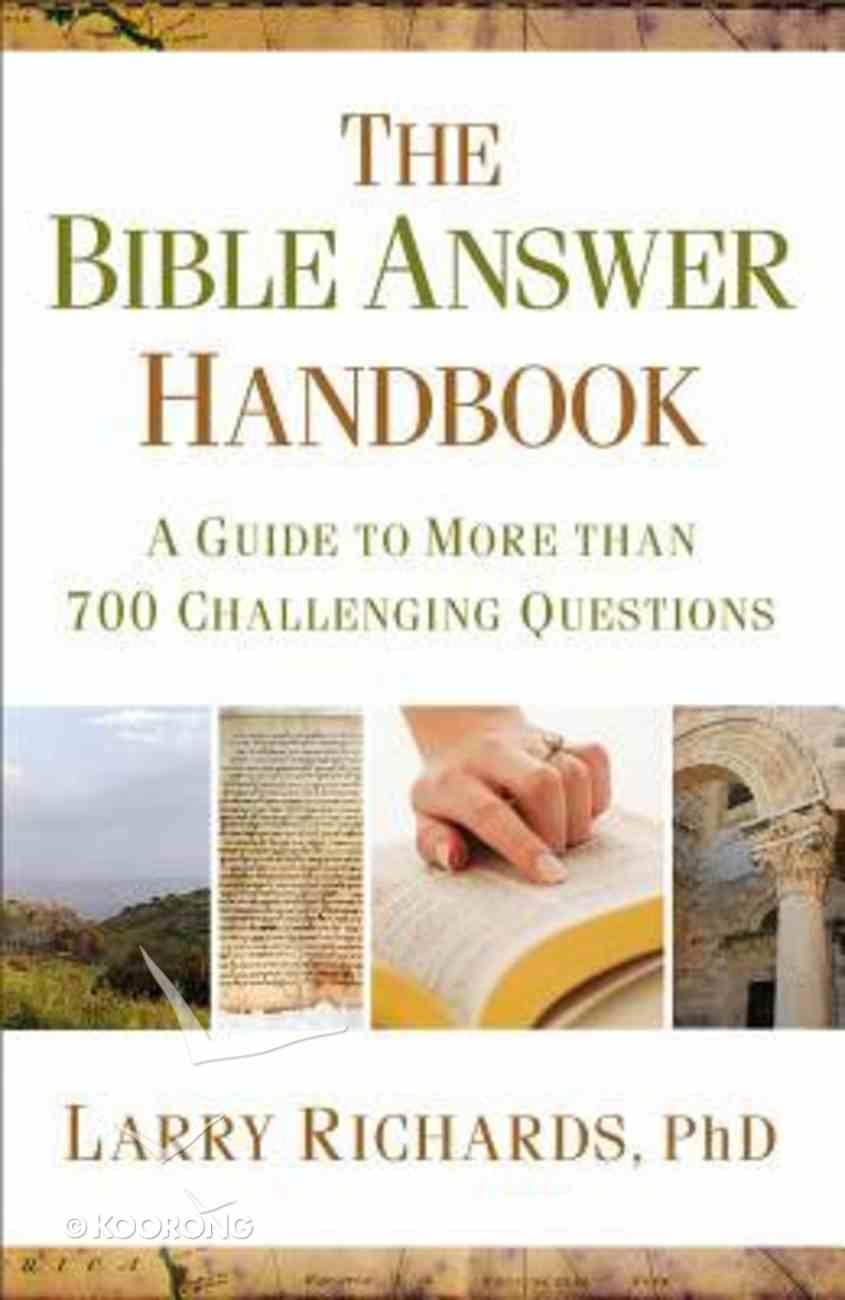 The Bible Answer Handbook Paperback