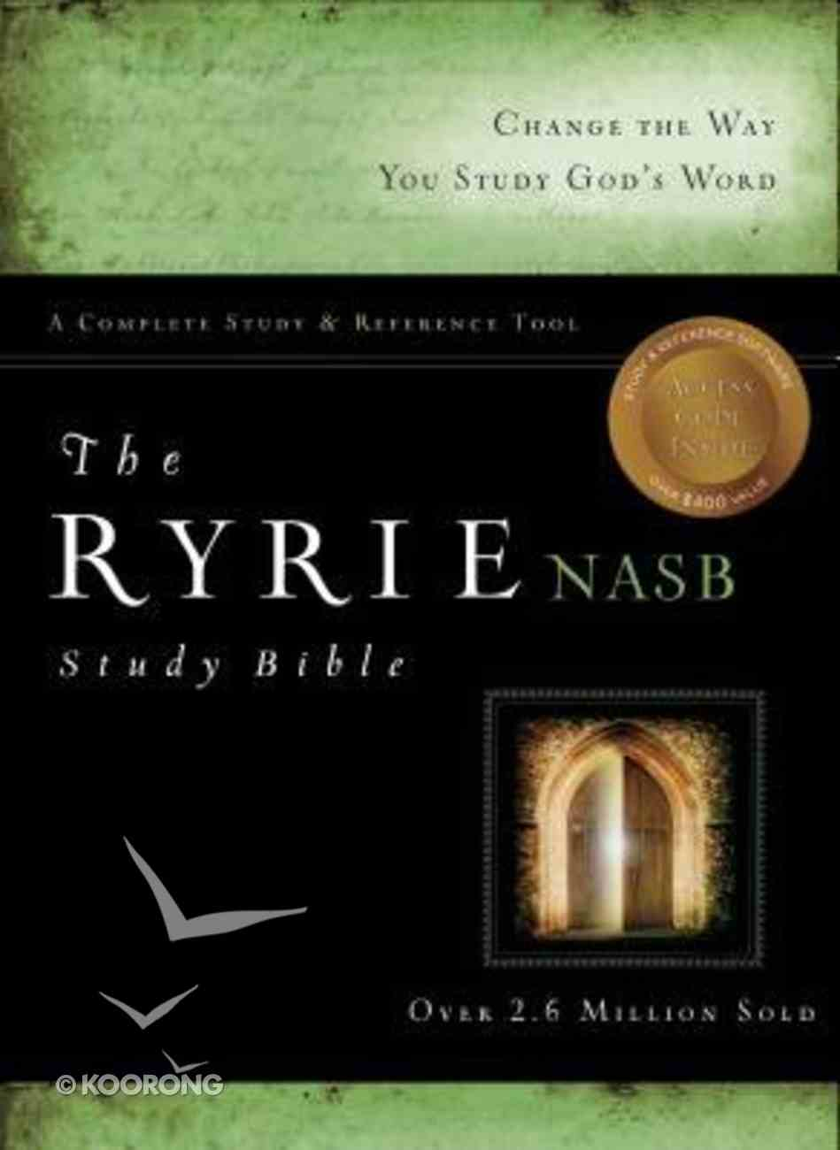 NASB Ryrie Study Bible Black Indexed (Red Letter Edition) Bonded Leather