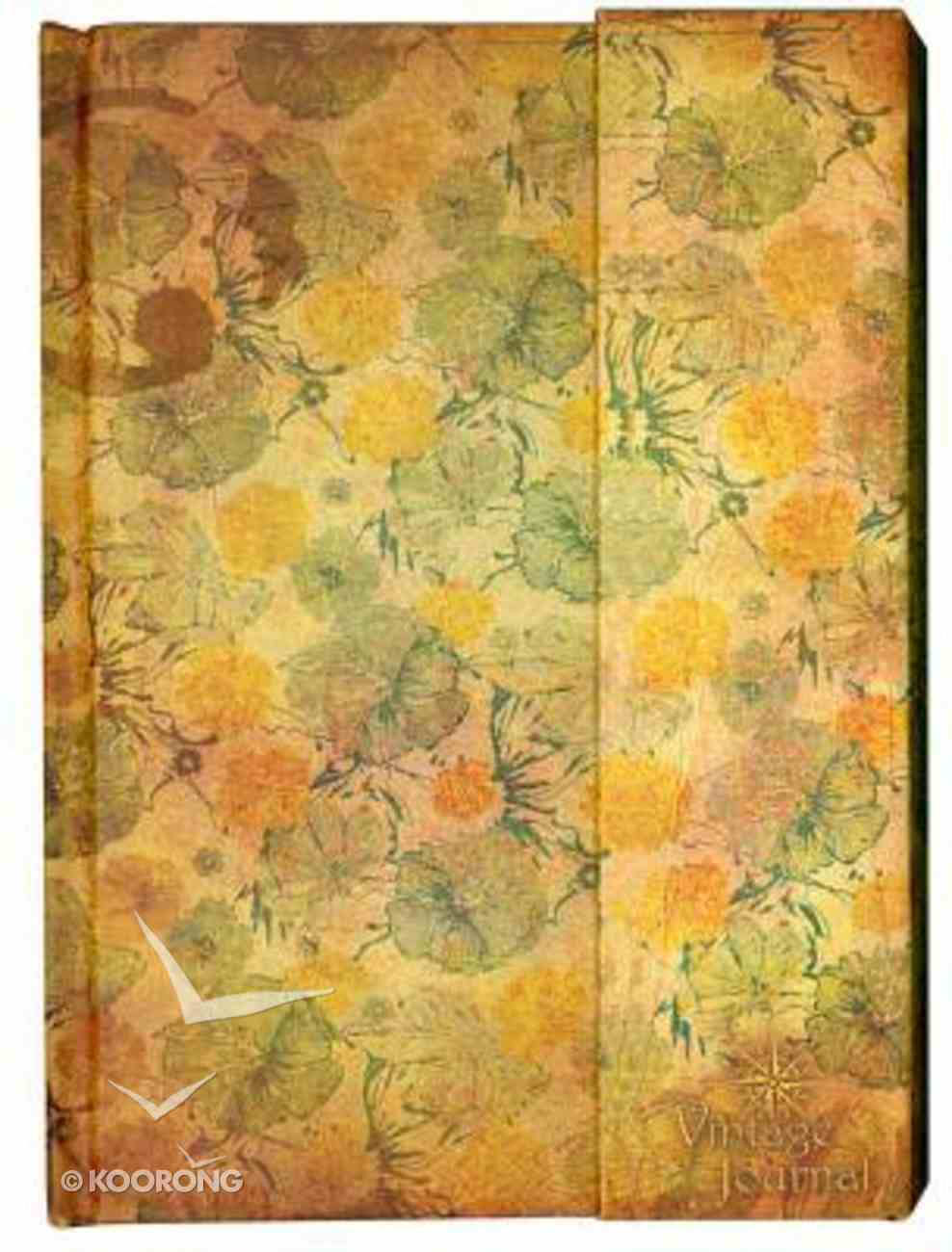 Magnetic Flap Journal: Vintage Women Stationery