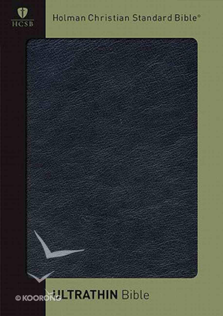 HCSB Ultrathin Black Calfskin Genuine Leather