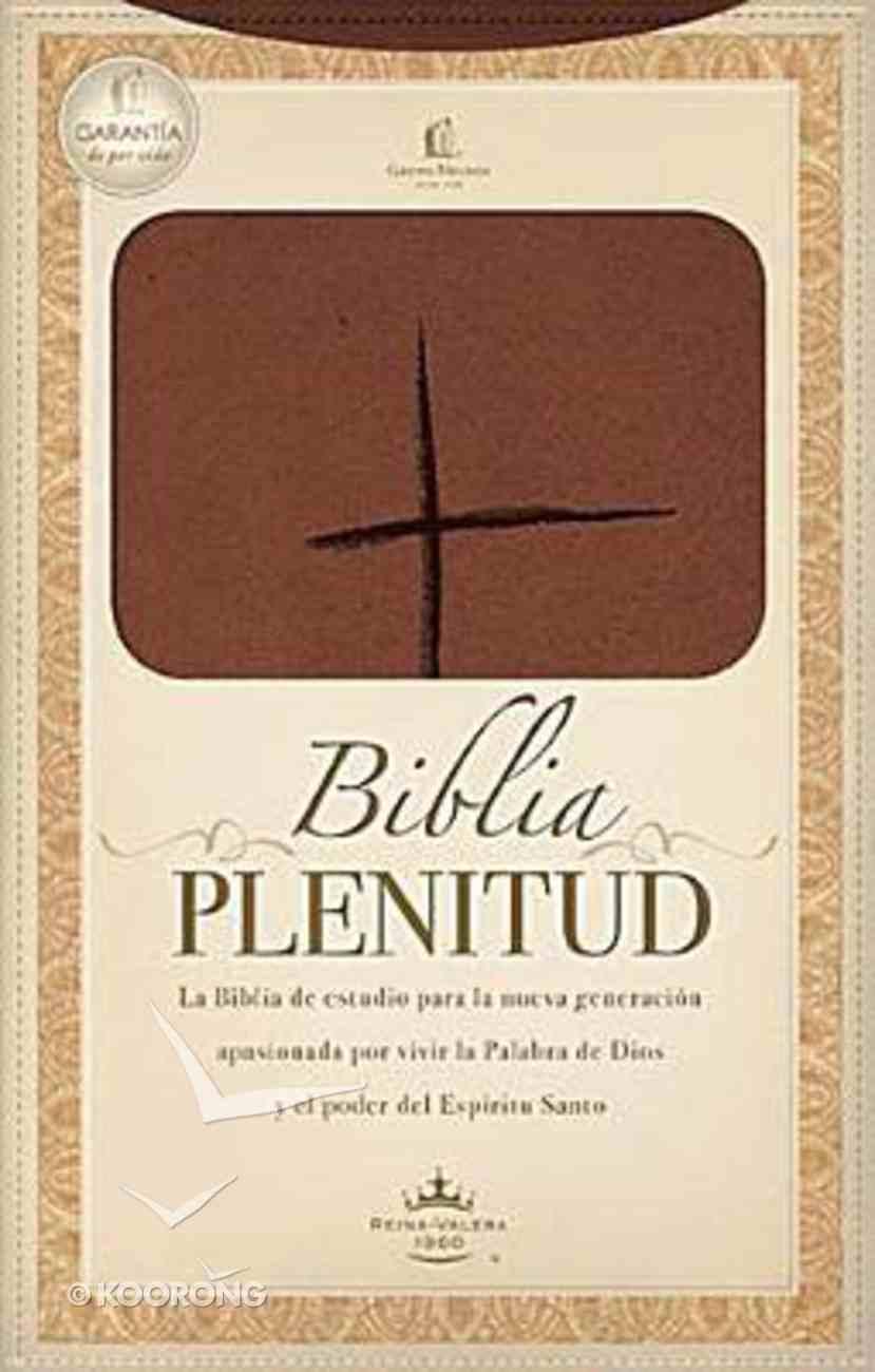 Rvr 1960 Biblia Plenitud Manual Terracota (Red Letter Edition) (Handy Size) Premium Imitation Leather