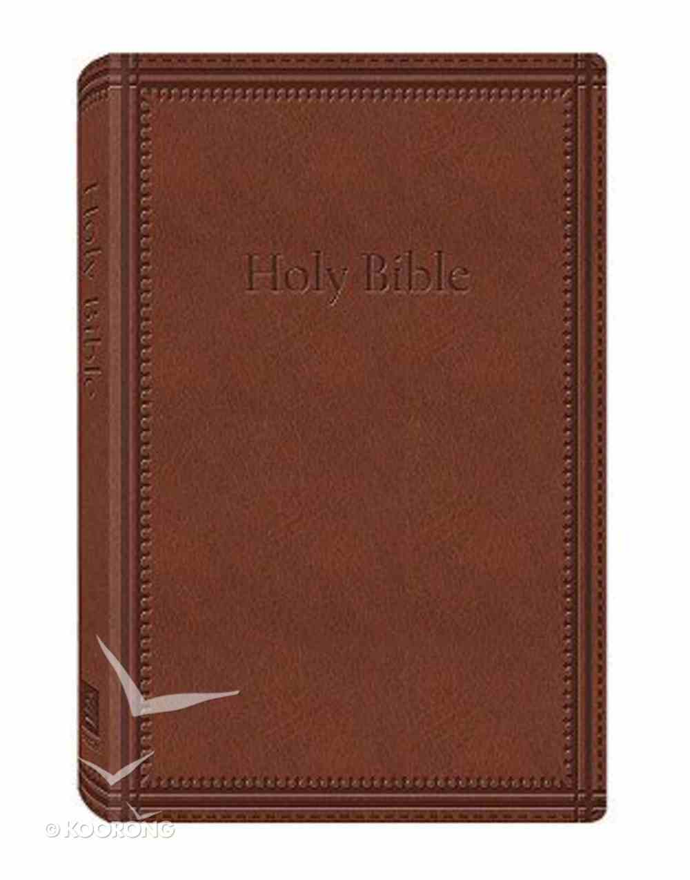 KJV Deluxe Gift and Award Dicarta Brown Imitation Leather