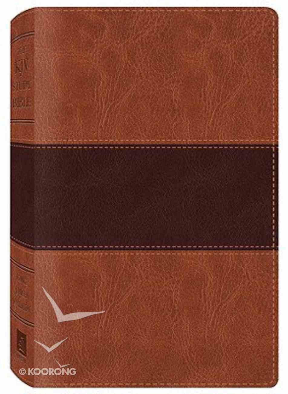 KJV Study Bible Brown Dicarta Imitation Leather
