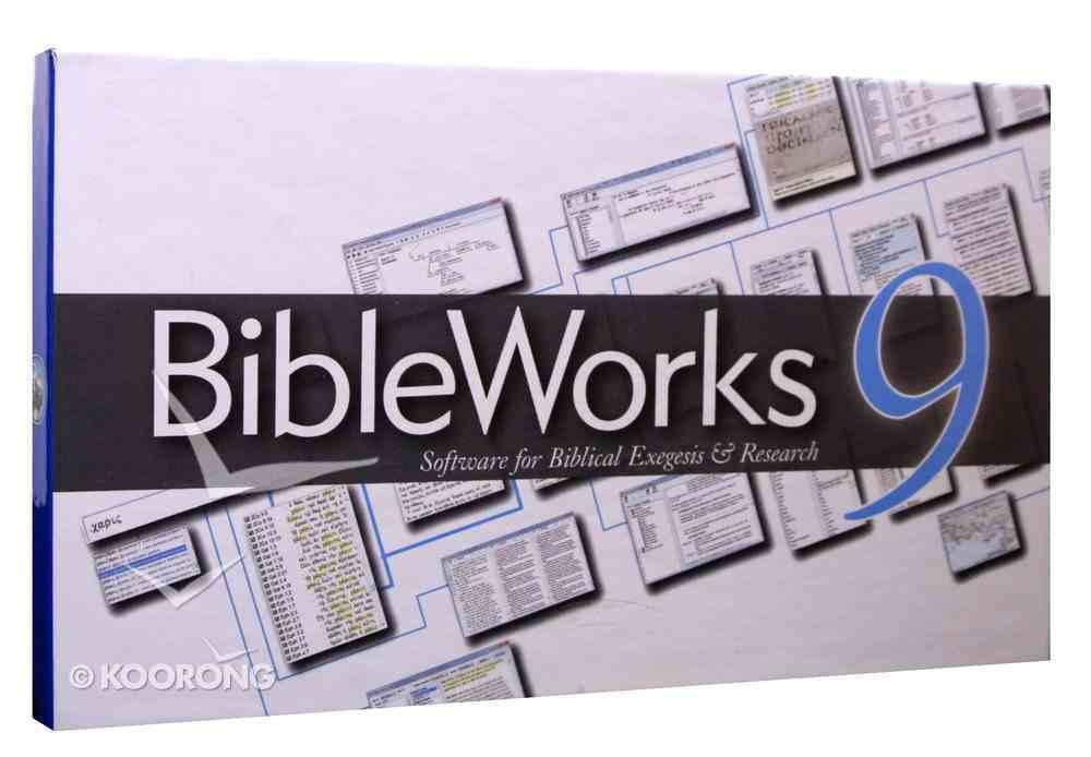 Bible Works 9.0 Dvdrom CD-rom