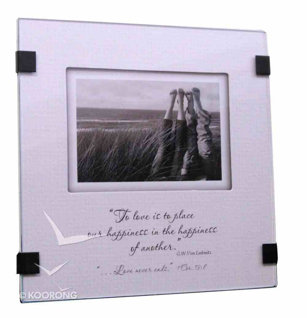 Moments Easeled Glass Art: To Love is to Place Homeware