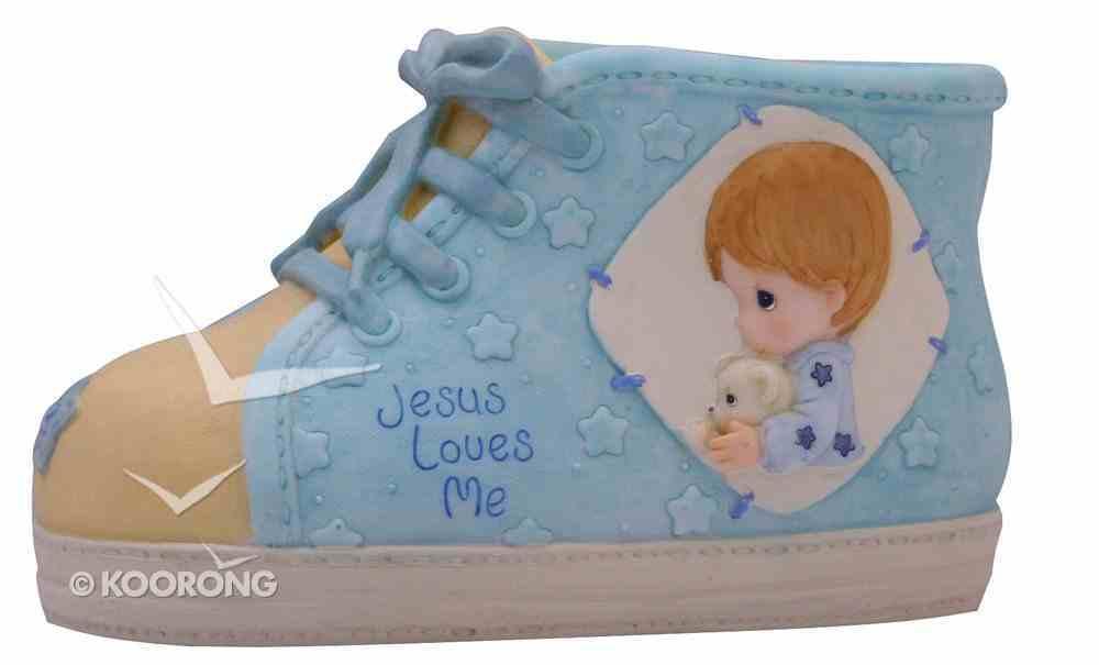 Precious Moments Shoe Money Box: Boy, Jesus Loves Me Homeware