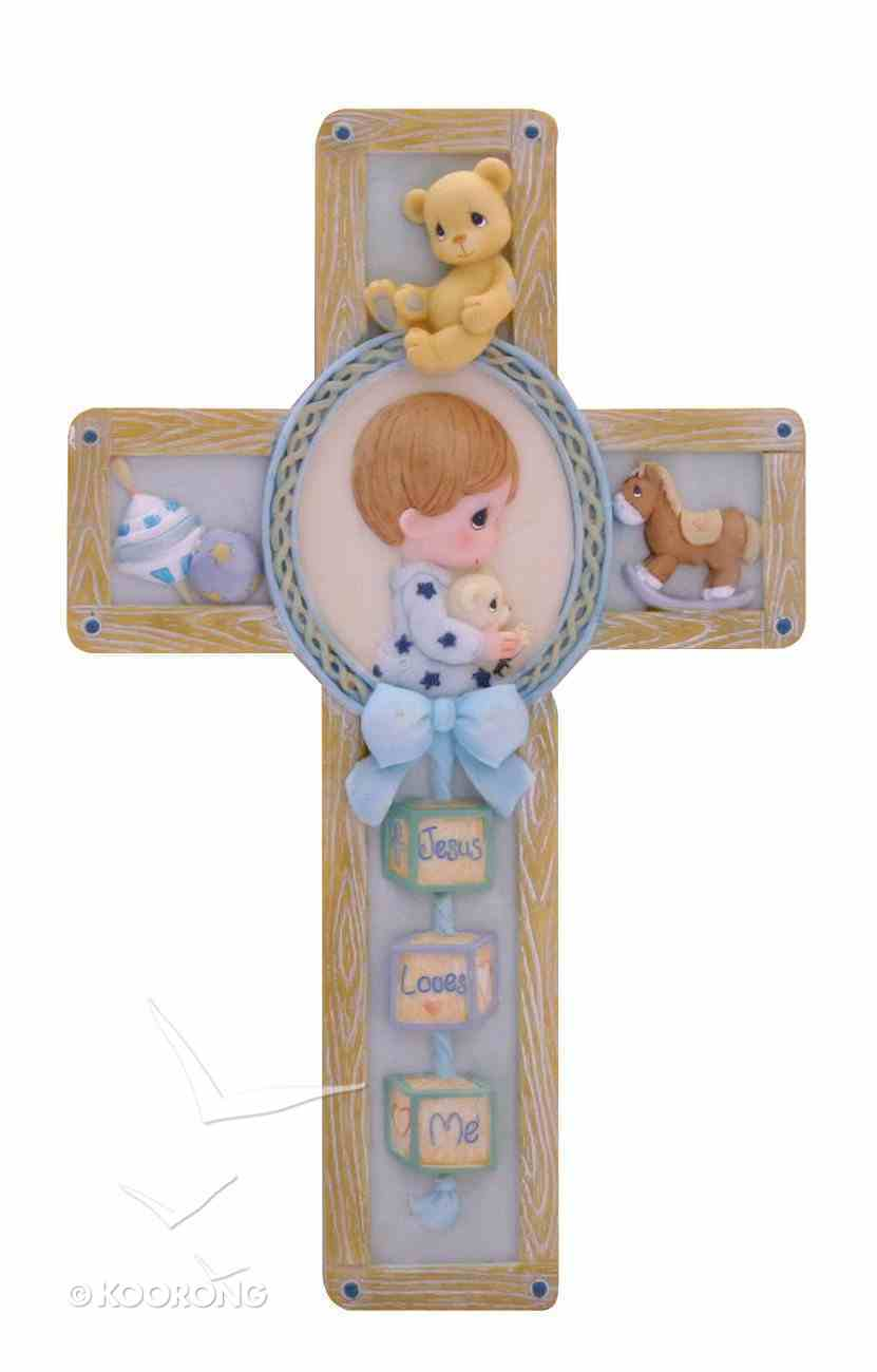Precious Moments Wall Cross: Boy, Jesus Loves Me Homeware