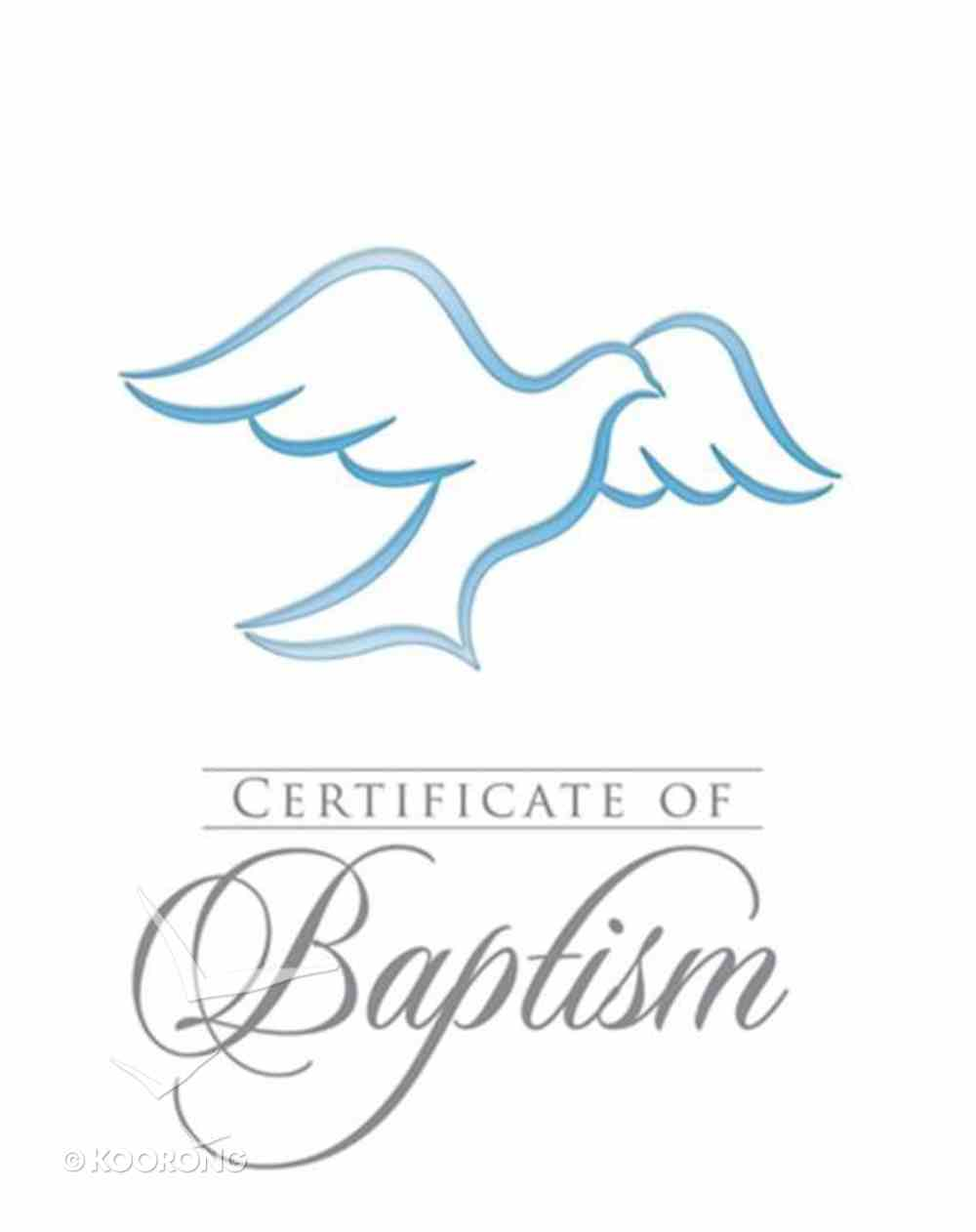 Certificate: Baptism With Envelope Blue Foil (Rom 6:3-4 KJV) (Pk 6) Pack