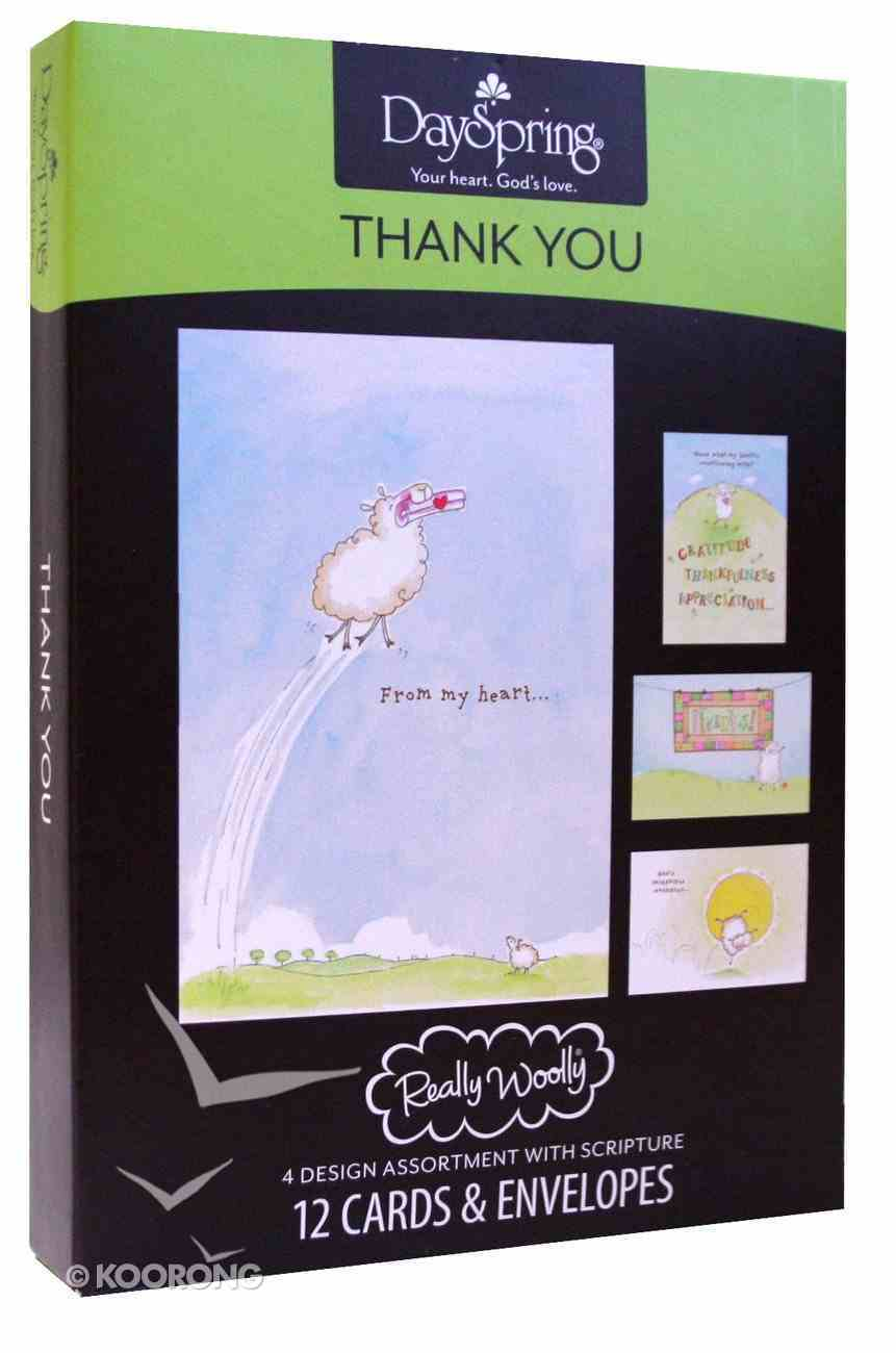 Boxed Cards Thank You: Really Woolly Box