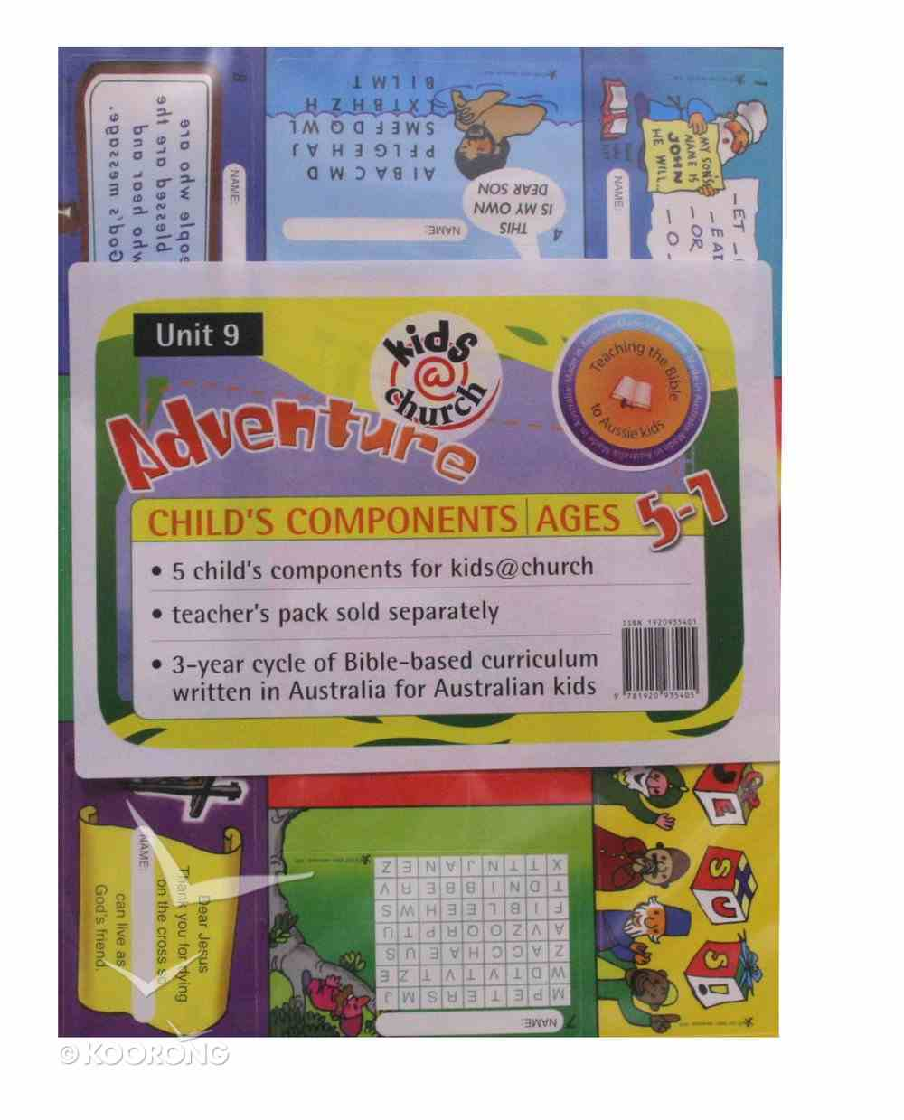 Kids@Church 09: Ad9 Ages 5-7 Child Components (5 Pack) (Adventure) (Kids@church Curriculum Series) Pack