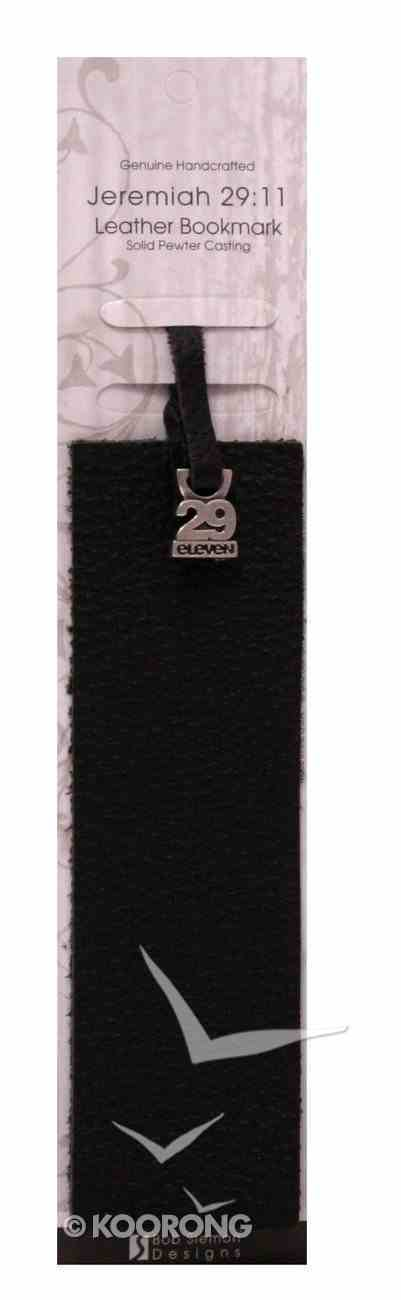 Jeremiah 29: 11 Brown Leather Bookmark With Pewter Charm Jewellery