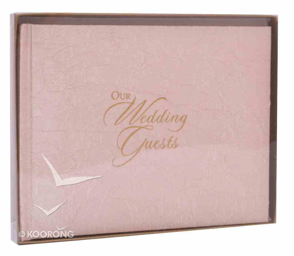 Guest Book: Our Wedding Material Cover Crinkled Gold Stationery