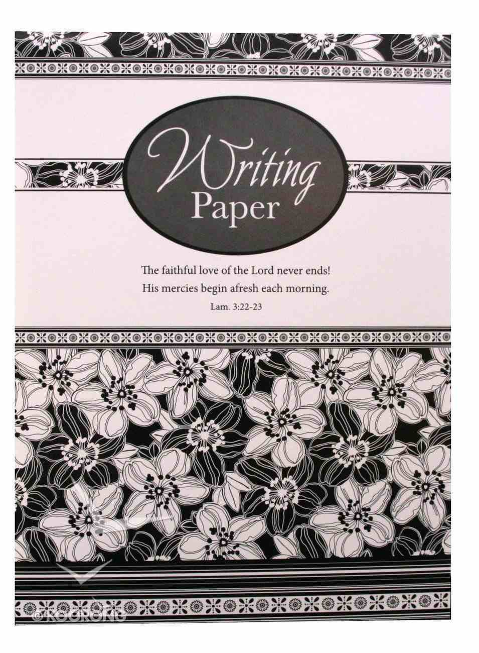 Writing Paper: Black and White Stationery