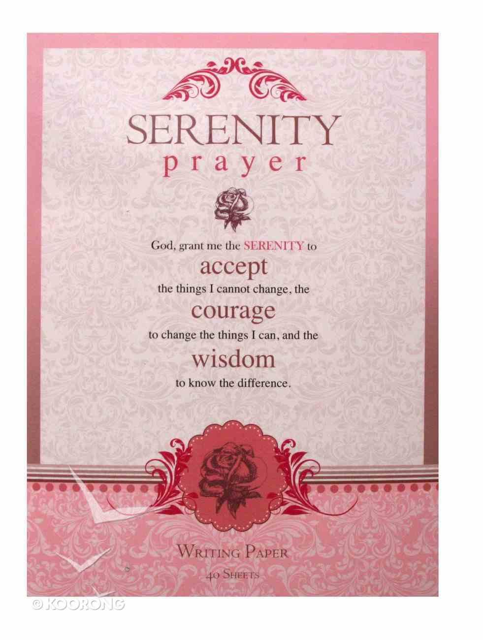 Writing Paper: Serenity Prayer Stationery