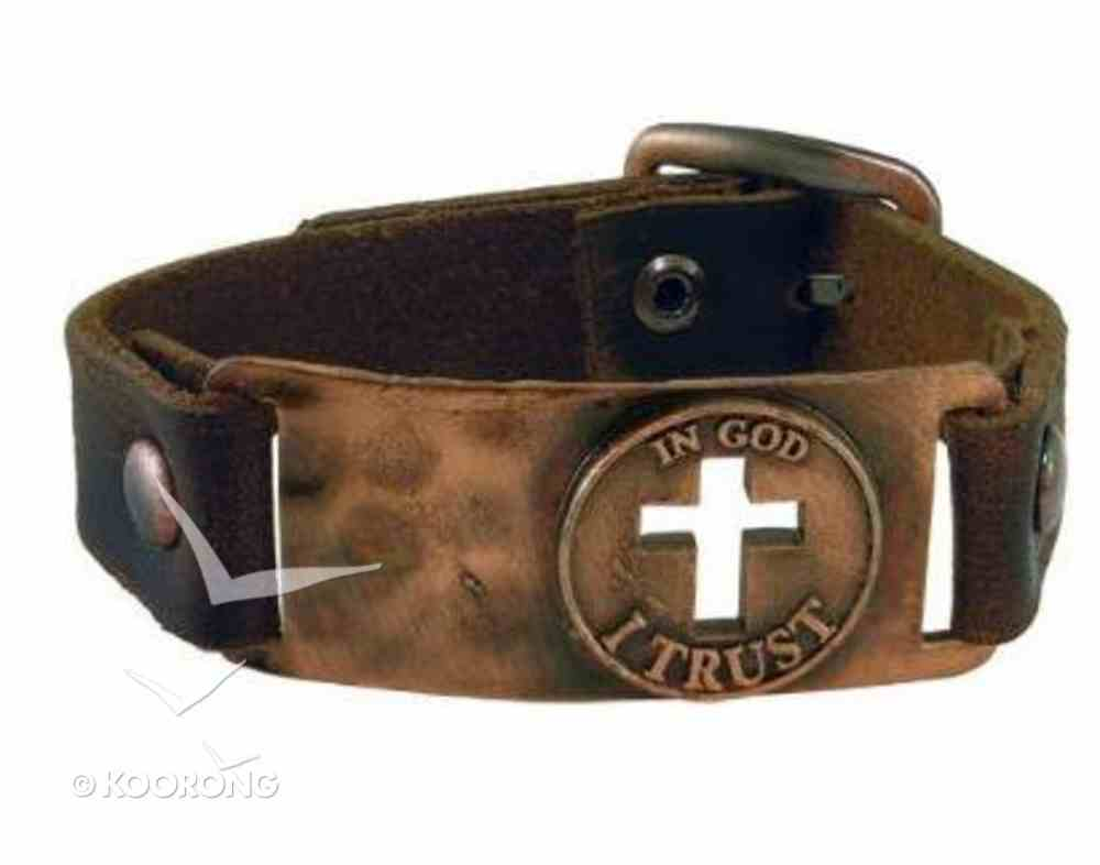 Men's Faith Gear Bracelet: God I Trust (Leather) Jewellery