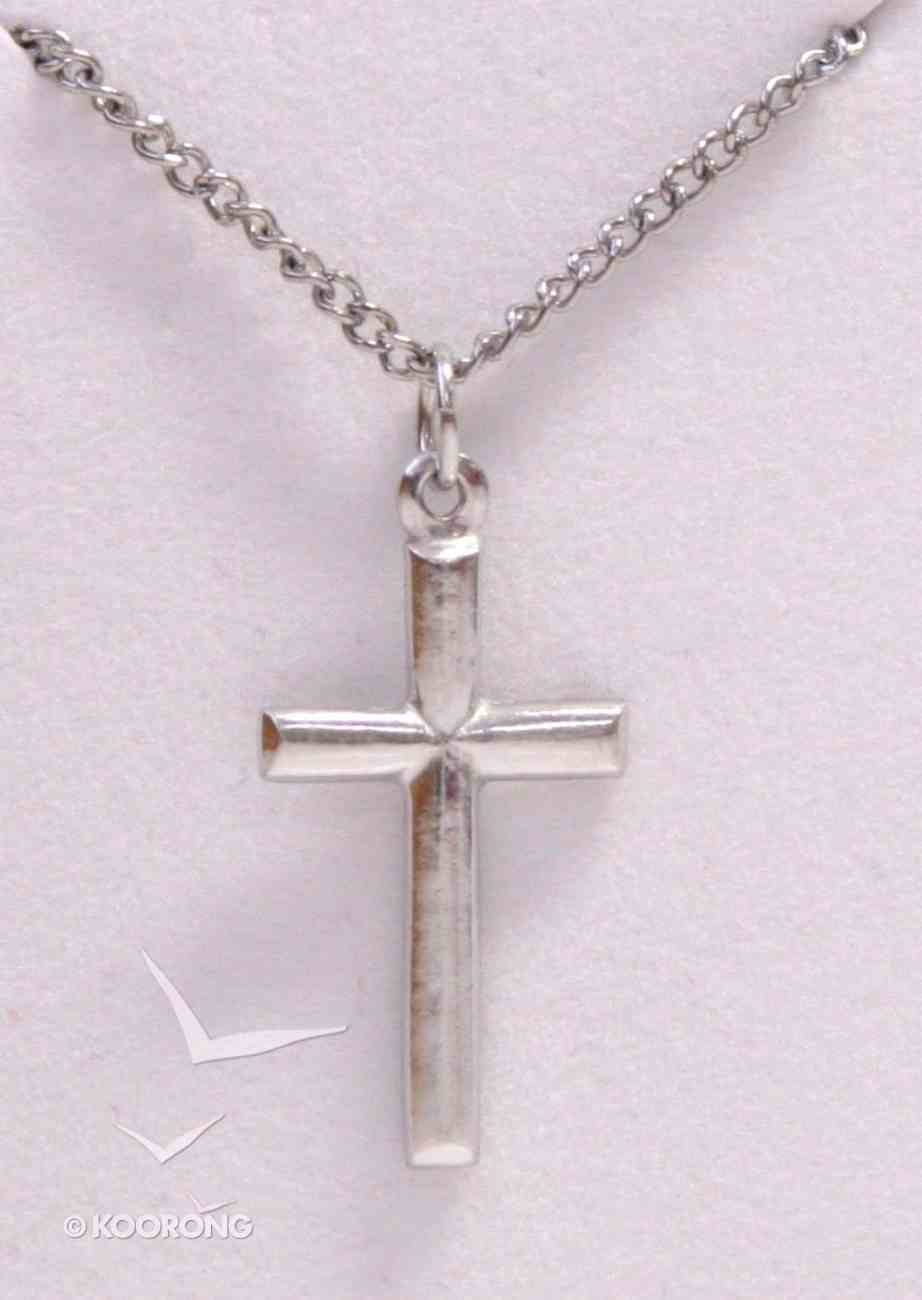 Pendant: Cross Rounded (Pewter) Jewellery