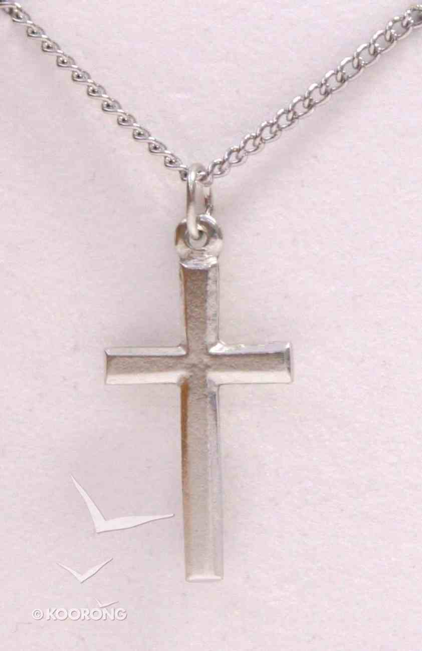 Pendant: Cross Outline Small (Pewter) Jewellery
