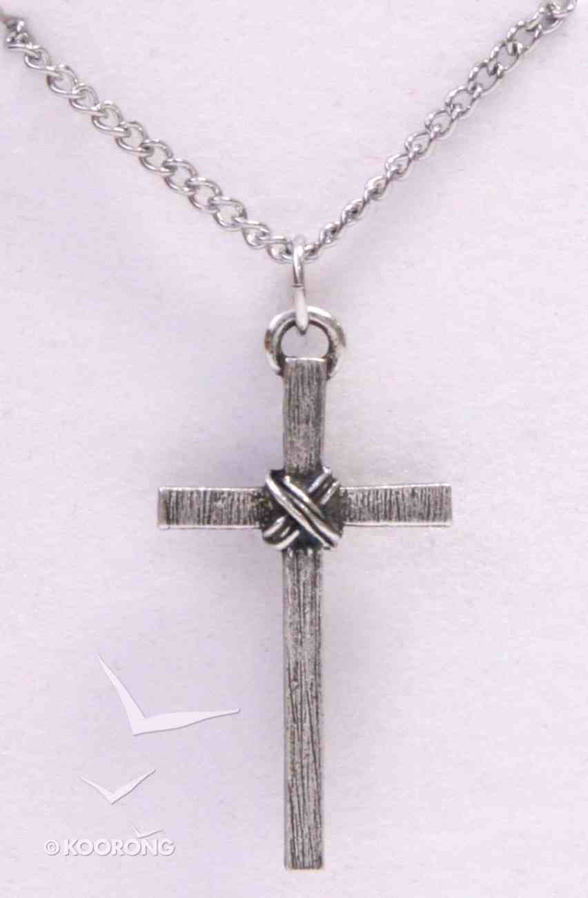 Pendant: Cross Textured Wrapped (Pewter) Jewellery