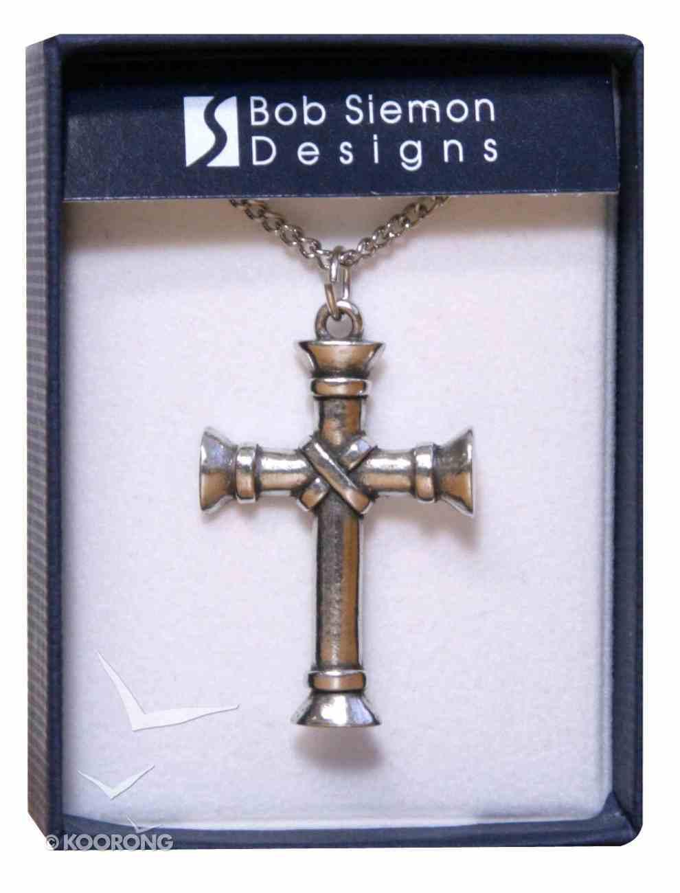 Pendant: Cross Wrapped Pillar (Pewter) Jewellery