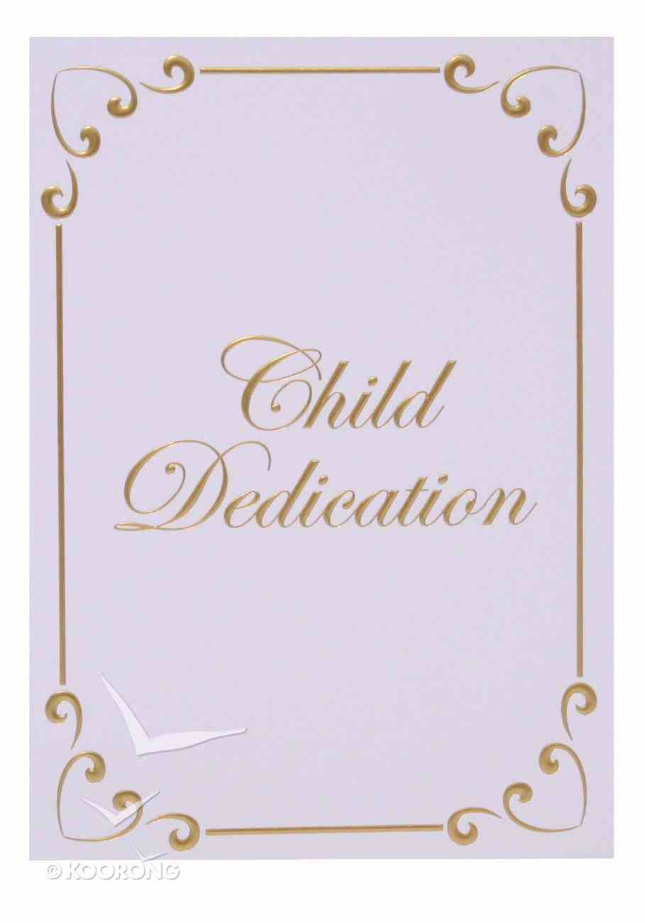 Certificate: Baby Dedication Ps 127:3 Gold-Foil Embossing Church Supplies