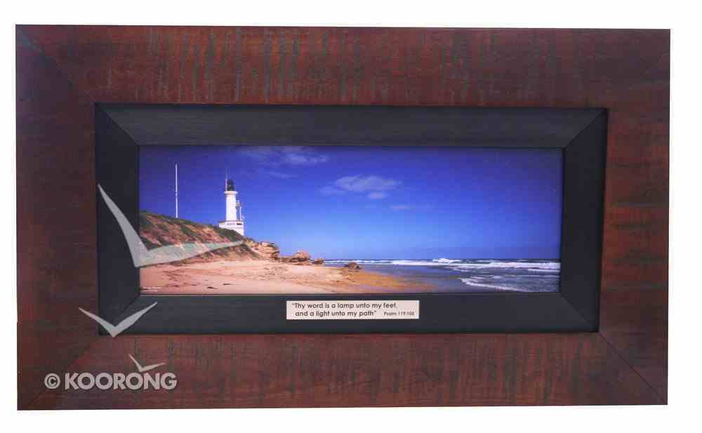Clancy Haven Framed Photo: Pt Lonsdale Lighthouse Plaque