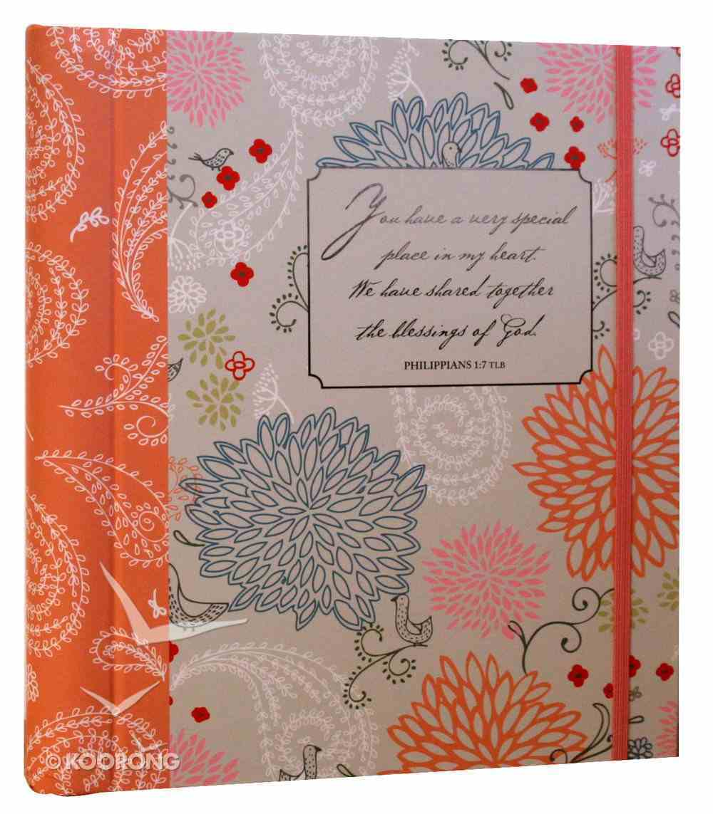 Greeting Card Organizer & Address Book: Philippians 1:7 Stationery