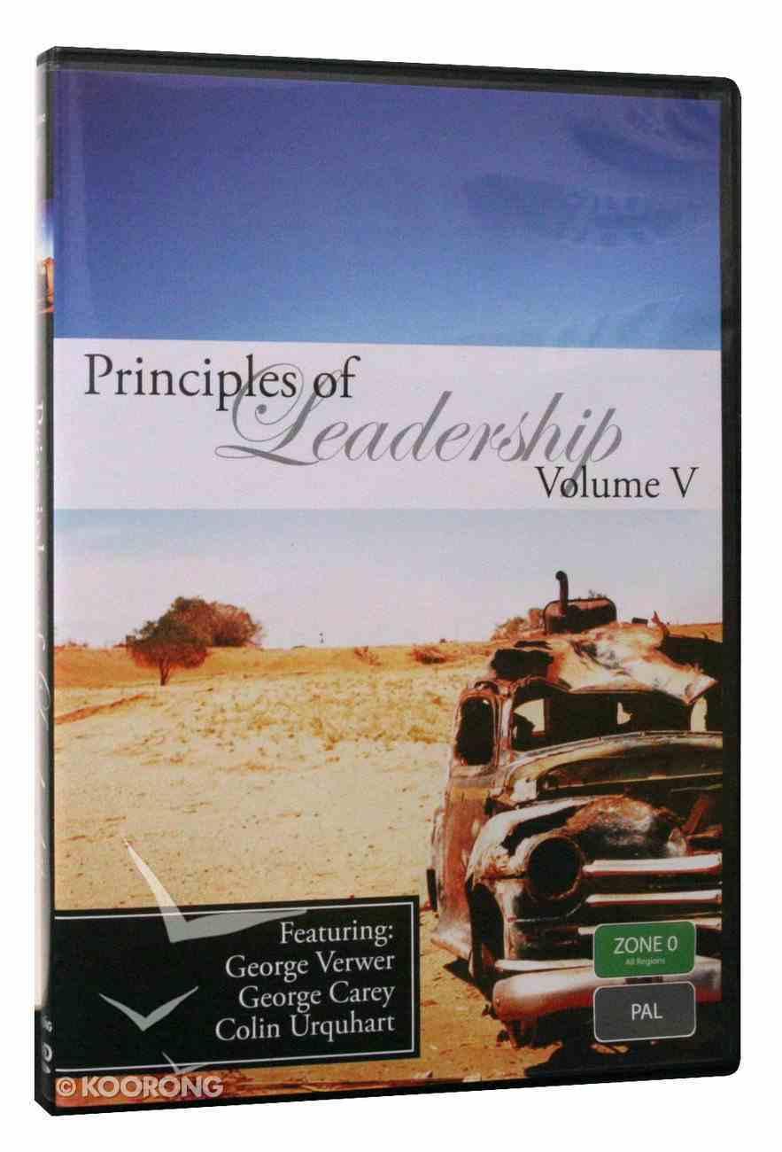 George Verwer, George Carey, Colin Urquhart (#05 in Principles Of Leadership Series) DVD