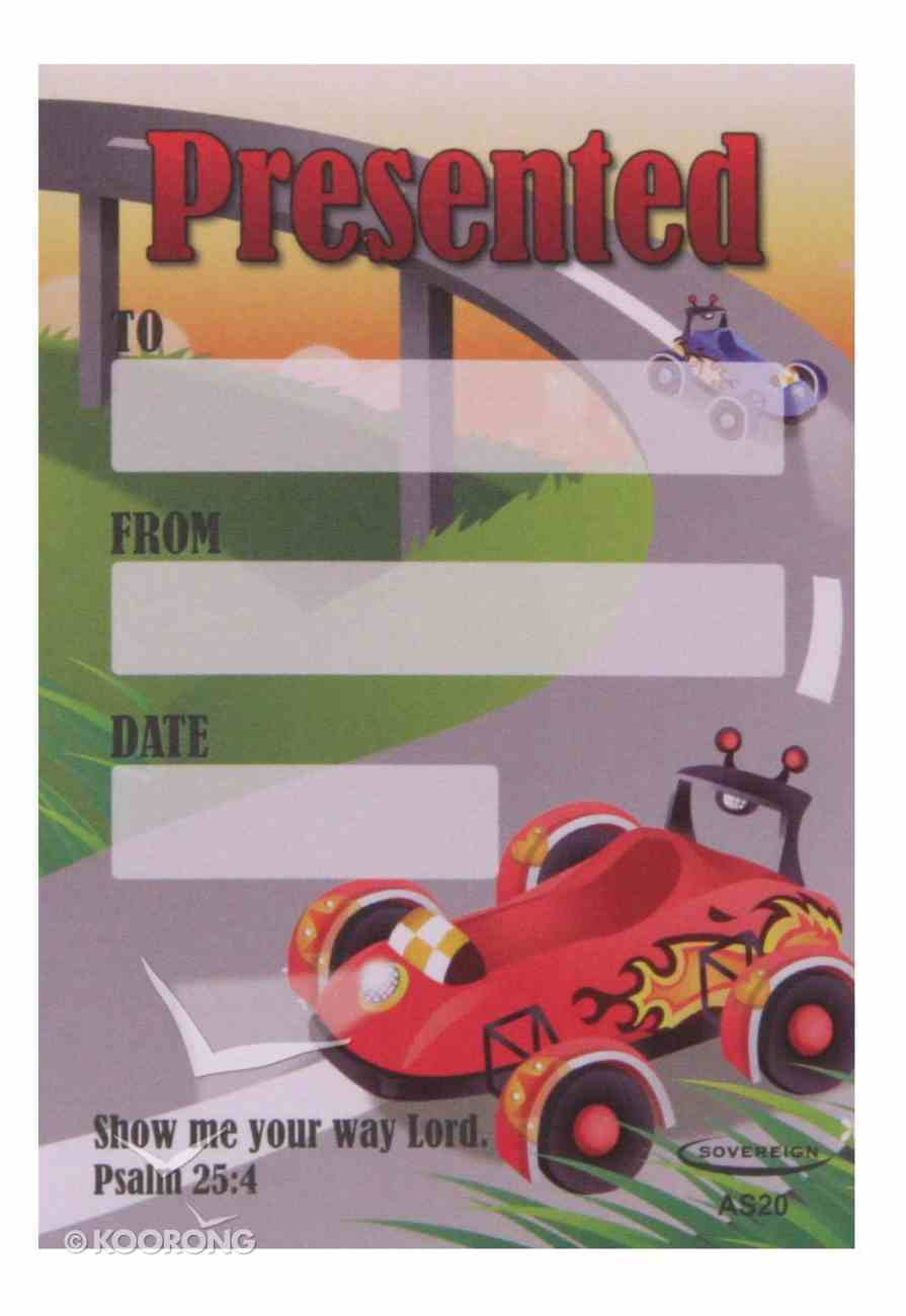 Presented Label: Race Car (50 Pack) Stationery