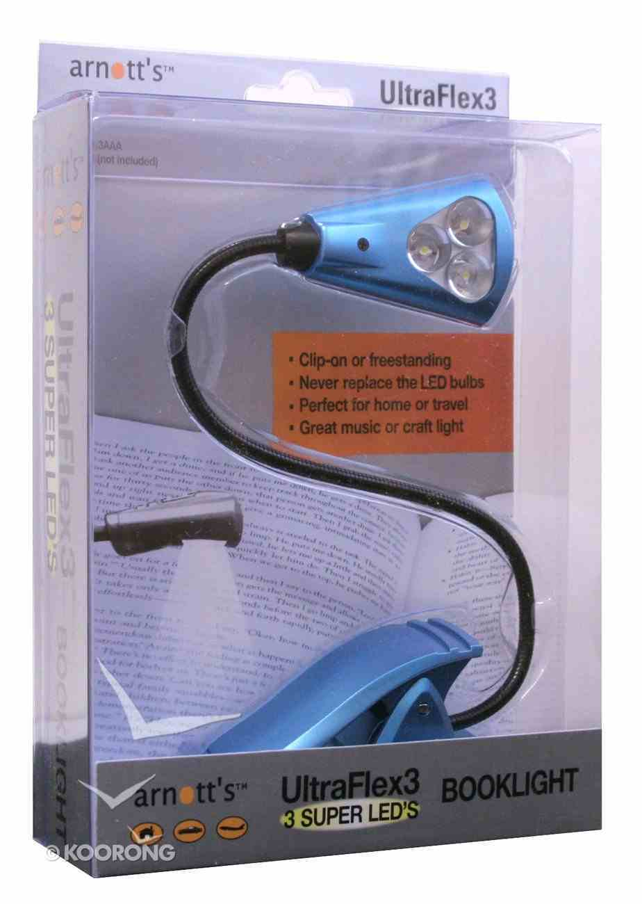 Ultraflex3 Booklight With 3 Super Bright Led's Blue Stationery