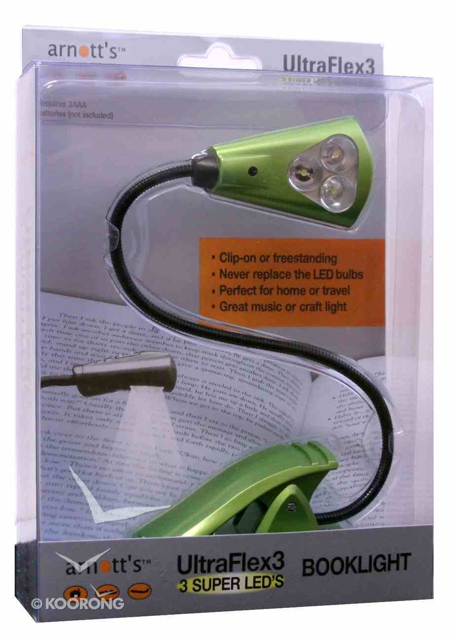 Ultraflex3 Booklight With 3 Super Led's Green Stationery