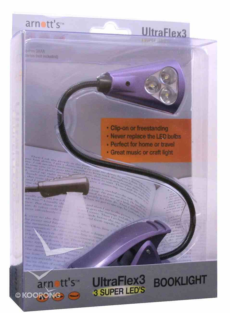 Ultraflex3 Booklight With 3 Super Led's Purple Stationery