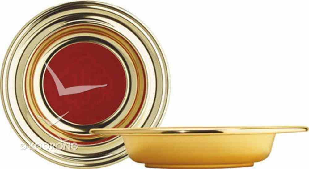 "Offering Plate: Brasstone Red (Rw-225ab) (12 5/8"" X 2 2/2"") Church Supplies"