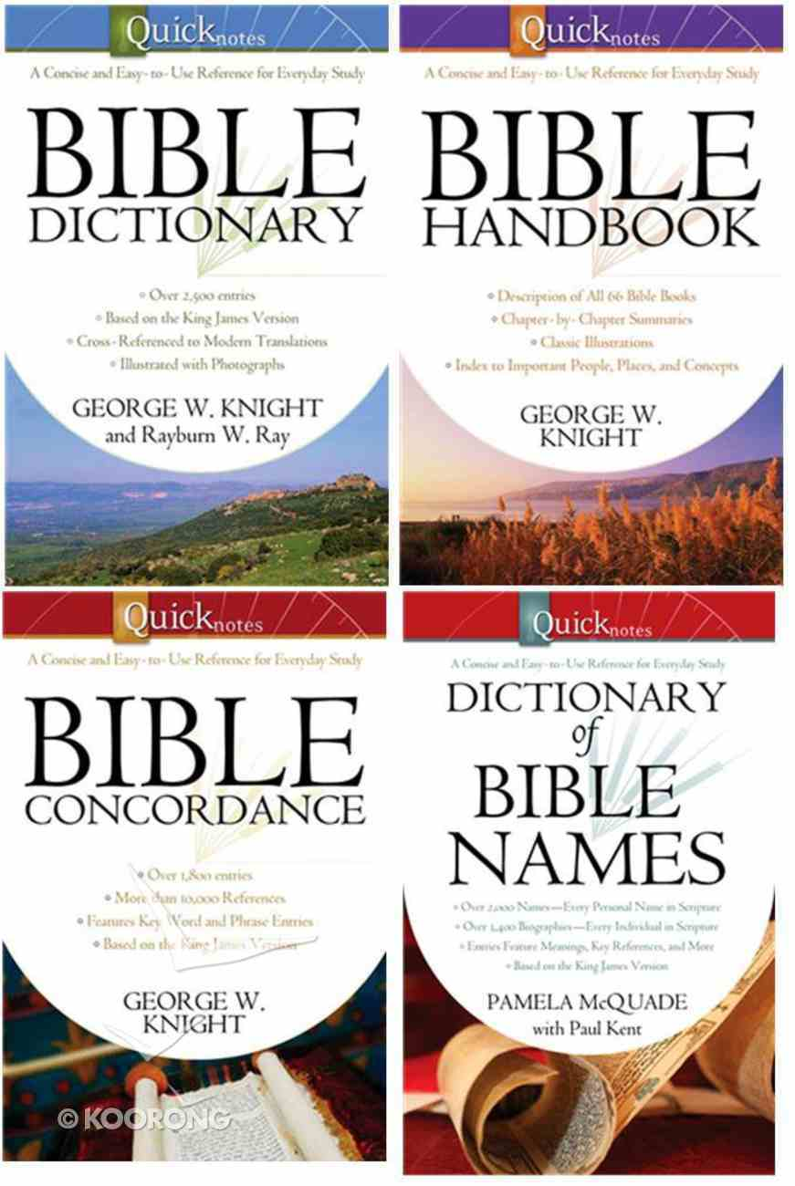 Quicknotes Bible Reference 4-Pack (4 Vols) Pack