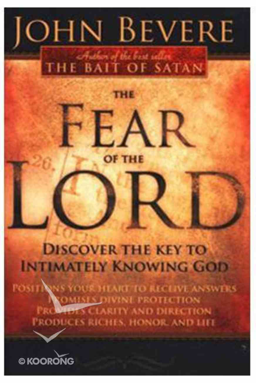 Fear of the Lord Book and Workbook Pack Pack