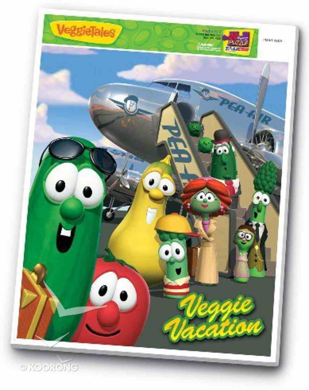 Veggie Tales Inlaid Puzzle: Veggie Vacation (24 Pieces) Game