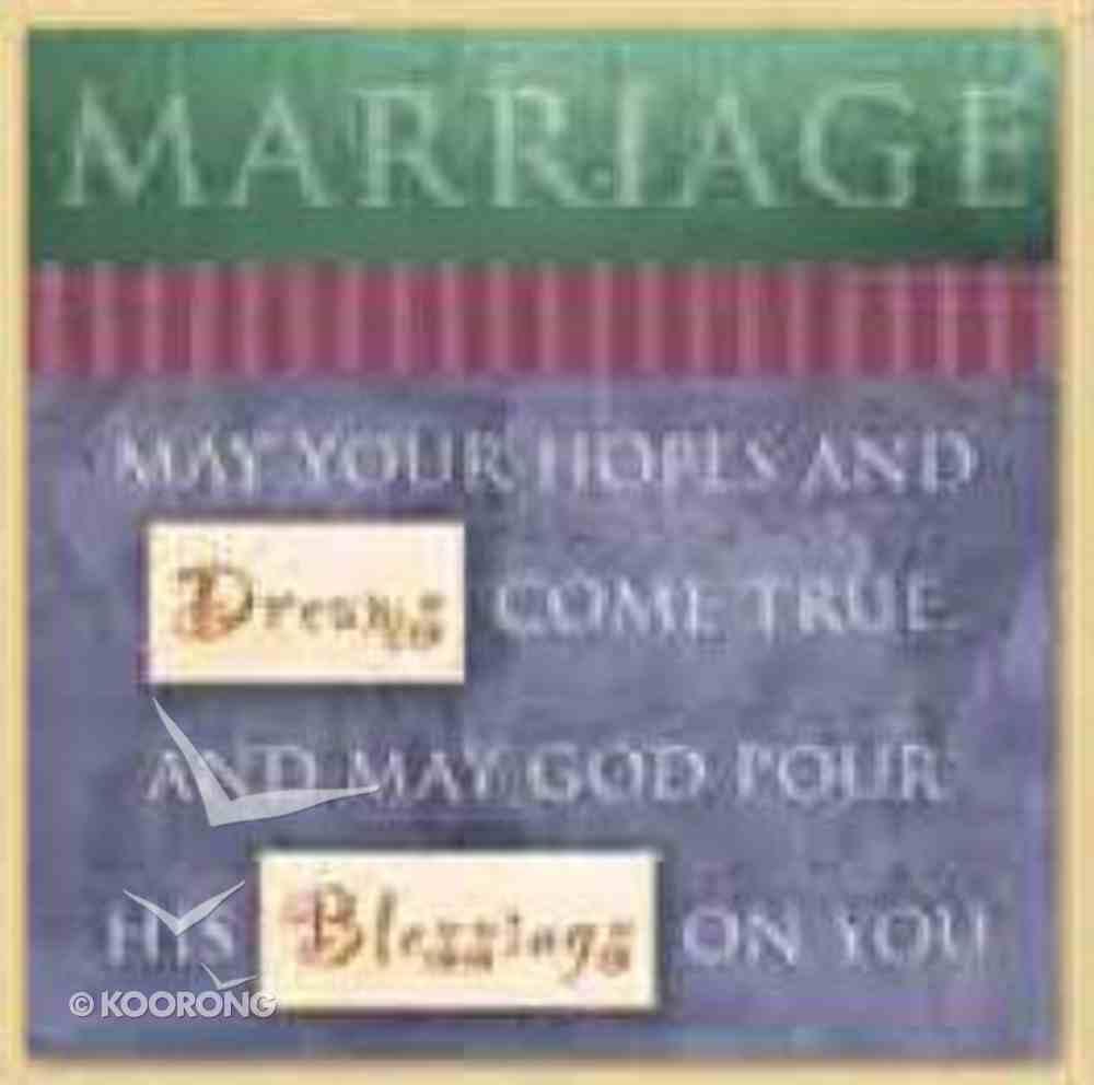 Celebrate Life Easled Magnet: Marriage Novelty