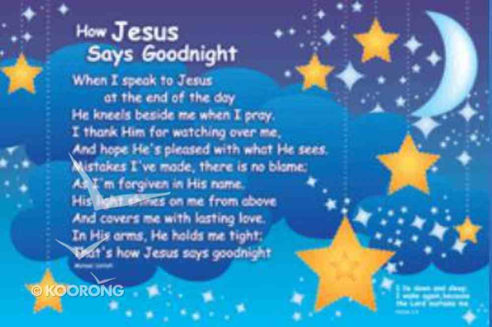 Poster Small: How Jesus Says Goodnight Poster